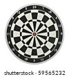 Dartboard target - stock photo
