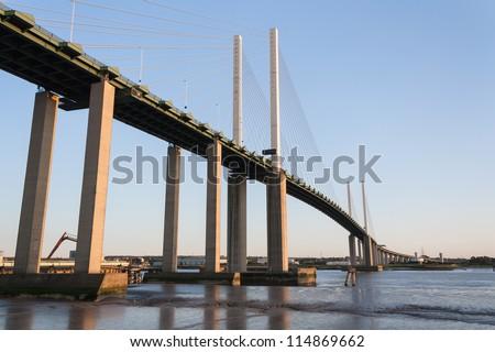 Dartford Bridge Crossing Essex UK - stock photo