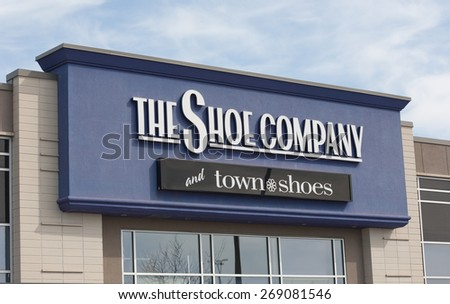 DARTMOUTH, CANADA - APRIL 13, 2015: The Shoe Company is a shoe and clothing retailer with some 65 stores in Canada. Town Shoes is a chain of shoe stores with some 30 outlets across Canada.