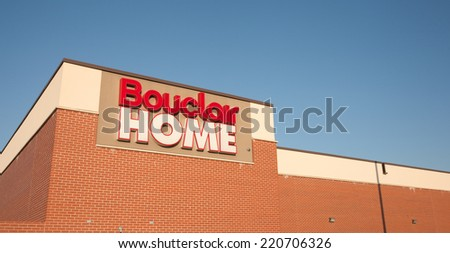 DARTMOUTH, CANADA - SEPT 28, 2014: Bouclair Home is a Canadian home decorating retail chain headquarterd in Quebec. Presently, Bouclair has over 1200 employees.
