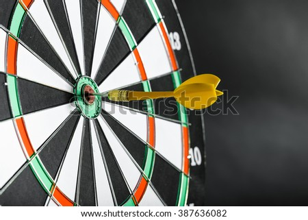 Darts board close up