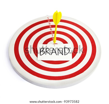 darts (branding and setting goal for business) - stock photo
