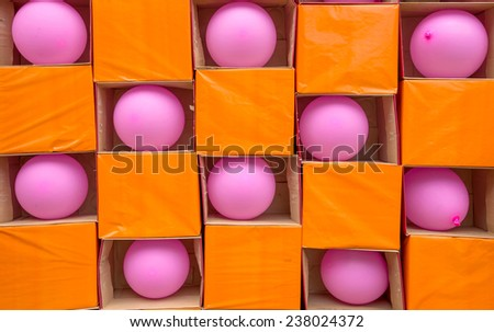 Darts gamble game with toy balloons. - stock photo