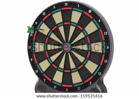 Darts game, number 9 - stock photo