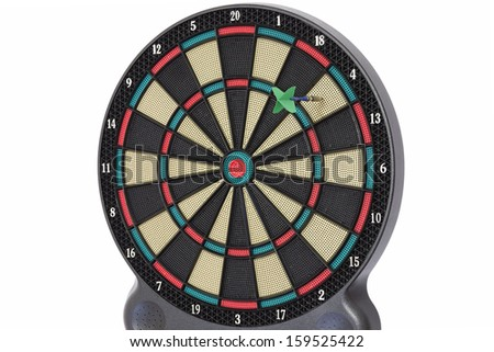 Darts game, number 4 - stock photo