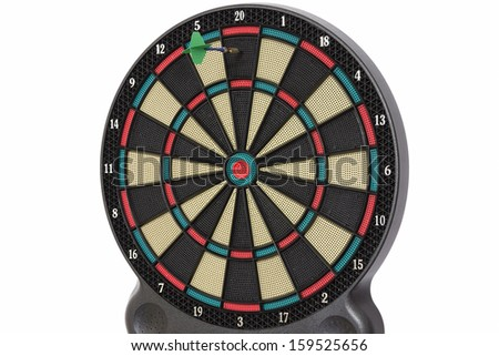 Darts game, number 20 - stock photo