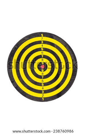 darts go to target - stock photo