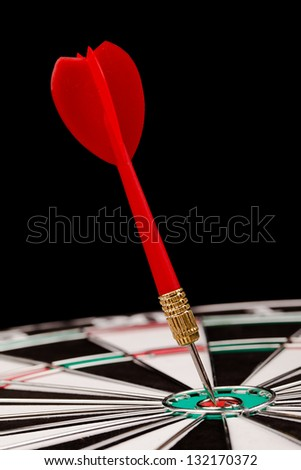 darts in the target - stock photo