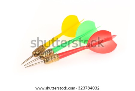 darts isolated on a white background - stock photo