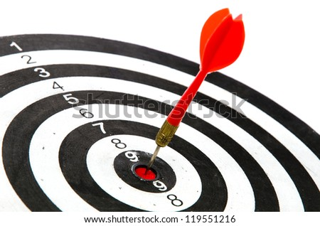Darts on target - stock photo