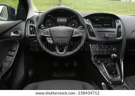 Dashboard - car interior, - stock photo