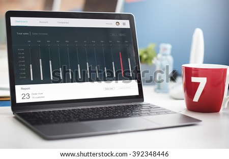 Dashboard Diagram Analysis Statistics Concept - stock photo