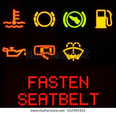Dashboard symbols, service icon - stock photo