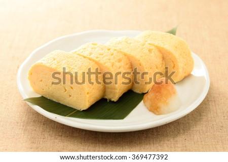 dashimaki.japanese omelet - stock photo