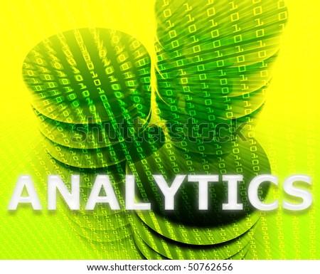 Data analytics abstract, computer technology information concept illustration - stock photo