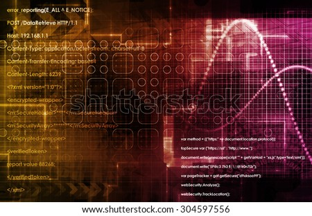 Data Architecture and Management Technology in 3d - stock photo