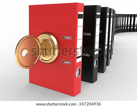 Data archiving security - stock photo