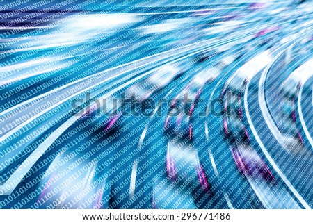 Data background - stock photo