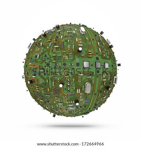 Data ball - stock photo