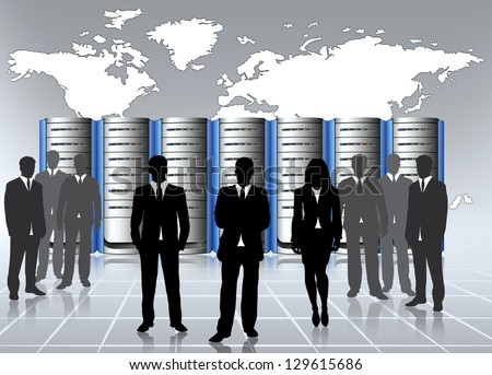 data center infrastructure and sever admin - stock photo