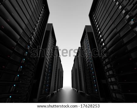 Data center server clusters - stock photo
