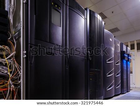 data center server room - stock photo