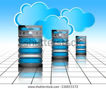 Data-center servers - stock photo
