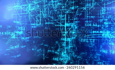 Data Code Digital Technology. - stock photo