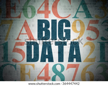 Data concept: Big Data on Digital Paper background - stock photo