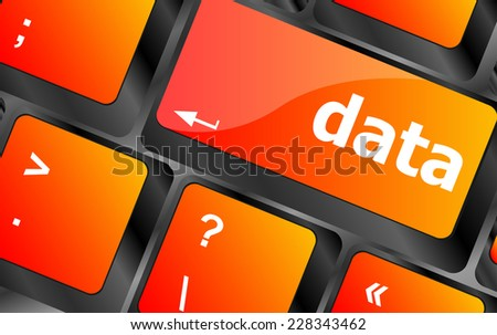Data concept: computer keyboard with word Data - stock photo