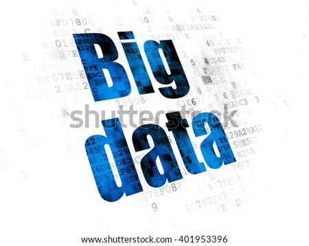 Data concept: Pixelated blue text Big Data on Digital background - stock photo