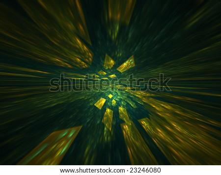 Data Disco - 3D fractal illustration - stock photo