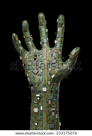 Data hand - stock photo