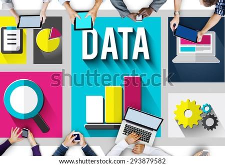 Data Information Cloud Center Communications Concept - stock photo