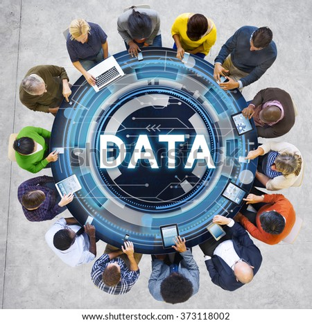 Data Information Stock Exchange Growth Concept - stock photo