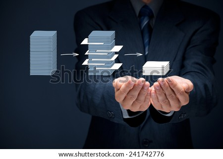 Data mining (dataminig) process and big data analysis (bigdata) issue concept. Analyst give you structured and relevant data.  - stock photo