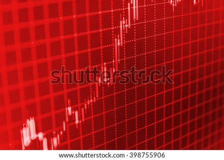 Data on live computer screen. Background stock chart. Abstract financial background trade colorful. Online forex data. Business analysis diagram. Stock market quotes on display. Price chart bars.   - stock photo