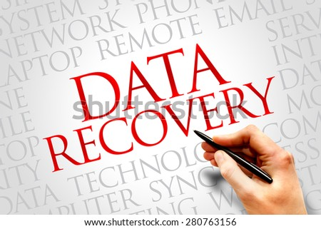Data Recovery word cloud concept - stock photo