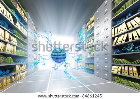 Data searching - stock photo