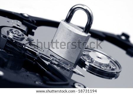 Data security - stock photo