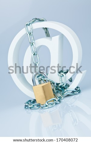 data security on the internet. safe surfing the internet. defense against viruses and spam. - stock photo