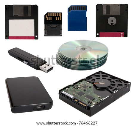 Data storage devices - stock photo