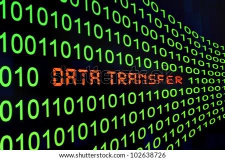 Data transfer - stock photo