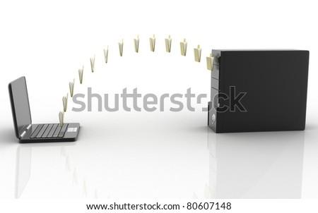 Data transfering - stock photo