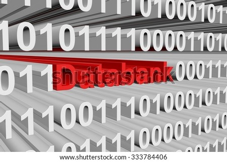Databank is presented in the form of binary code
