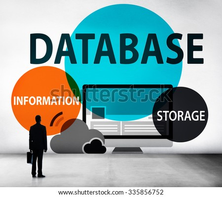 Database Online Storage Technology Concept - stock photo
