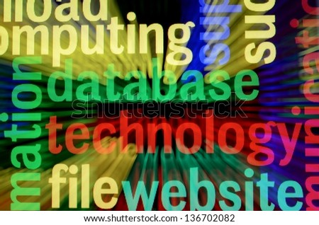 Database technology concept