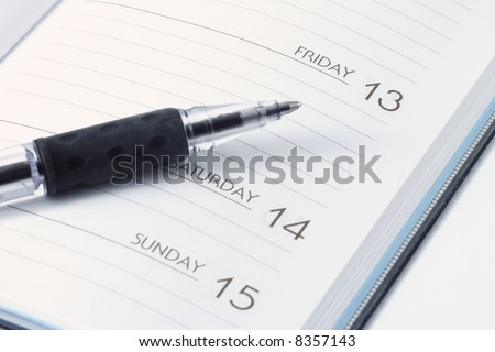 Date book - stock photo