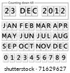 date counter flip display illustration - stock photo
