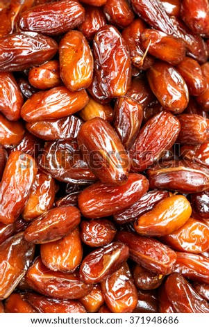 Date palm on a traditional craftsman market.Vertical image. - stock photo